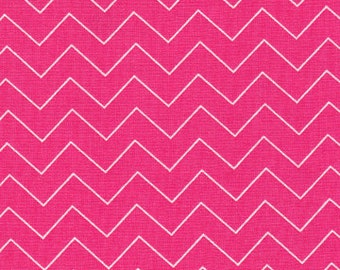 Deep Pink ZigZag Fabric by Dear Stella