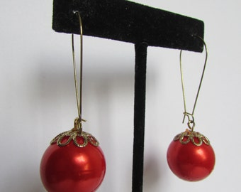 Vintage earrings - Hook earring- 90s Jewelry
