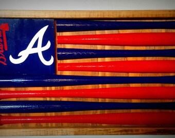 Atlanta Braves Baseball Bat Flag