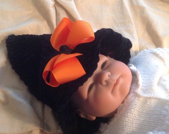 Adorable Baby Witch Hat, Handmade, Crochet