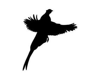 "Pheasant Quail Grouse - Vinyl Decal Sticker - 3.75"" long x 4.25"" high - 24 Colors - [#0950]"