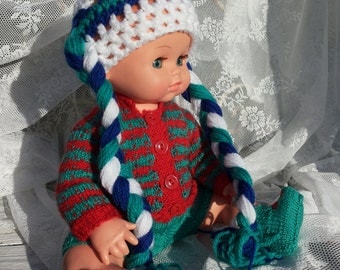 Baby hat with braids for a nelsontabu approx. size 56. Hot/Crochet/Baby/open work pattern/cute/Girl/Boy/Blue