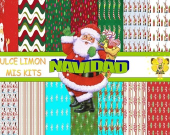 more clipart digital papers kit Christmas !!!