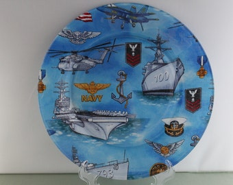 Decorative Navy Plate