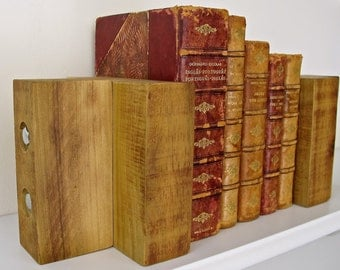 Popular items for solid wood bookends on etsy - Sturdy bookends ...