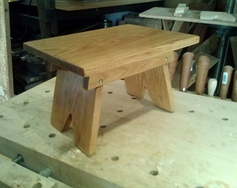 Oak step stool