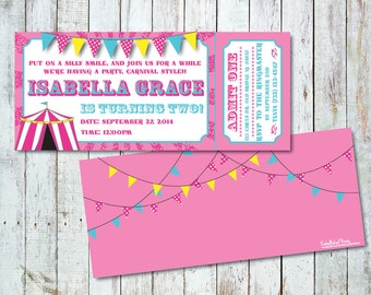 Personalized Carnival Themed Invitation