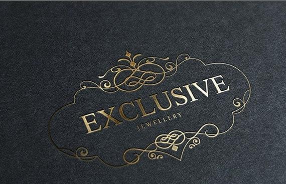 Exclusive premade logo design elegant custom logo template