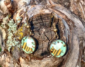Resin Bee Earrings