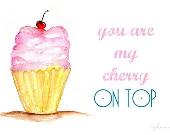 Cherry on Top. Printed illustration