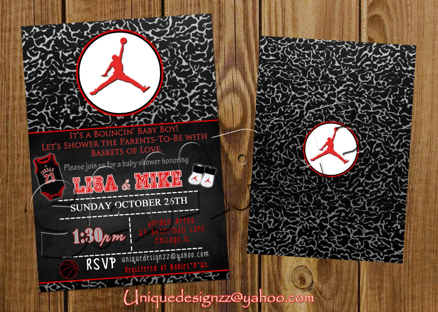 michael jordan baby shower or birthday by uniquedesignzzz on etsy