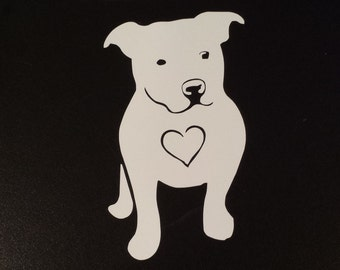 Lover Not a Fighter! I-Love-My-Pitbull-Dog-iPad-Vinyl-Car-Window-Decal-Sticker-Love-a-bull-Pit-Bull