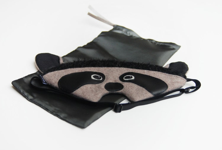 Raccoon sleep mask: racoon silk eye mask sleeping mask by ... Raccoon Eye Mask
