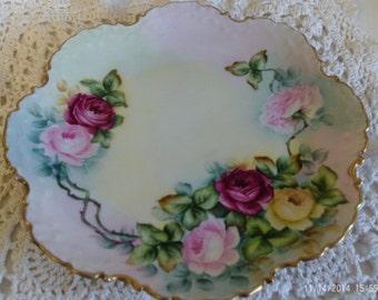 Antique RC Monbijou Bavarian German Floral Plate