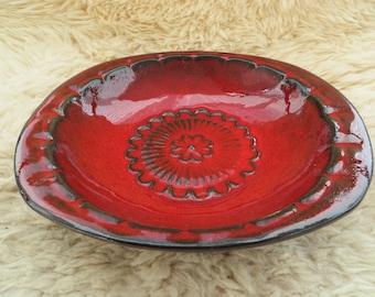 Bay - West Germany - Red Ceramic Bowl