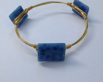 Blue rectangles bangle