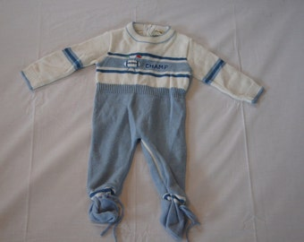 Vintage 1980's - Baby Onesie for the Champ