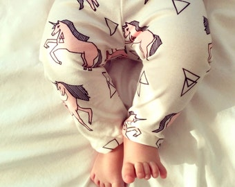 baby girl clothes, organic baby clothes, modern baby clothes, organic baby pants, baby girl clothes, baby girl pants, pink unicorns