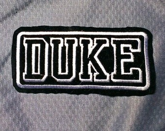 Duke University Blue Devils Embroidered Sew-on Basketball Patch 4'' X 2''
