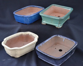 "Bonsai pot, ceramic 7"" (per pot not a set)"