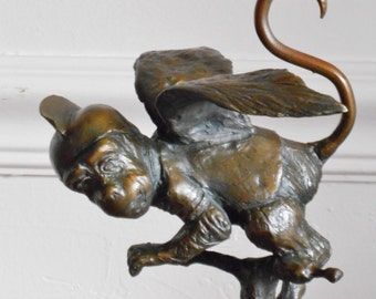 Wizard Of Oz inspired Bronze sculpture of The Flying Monkey.