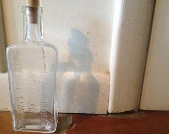 Vintage Apothicary Bottle, Columbus Ohio
