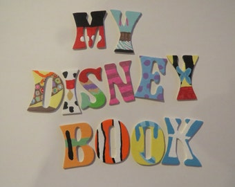 Disney Inspired Small Letter Art