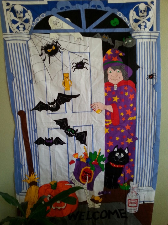 Decorating Ideas > Trick Or Treat Halloween Door Decoration Screen By  ~ 160801_Halloween Door Tricks