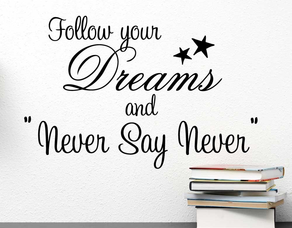 Arrow Wall Decal Follow Your Dreams Wall Decal Quote Boho