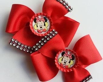 """Minnie Mouse Hair Cutie Set  3.5"""""""