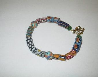 Bracelet-Multiple African trade beads