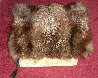 Vintage Large Authentic Fox Fur Muff - In Original Abraham & Straus Box