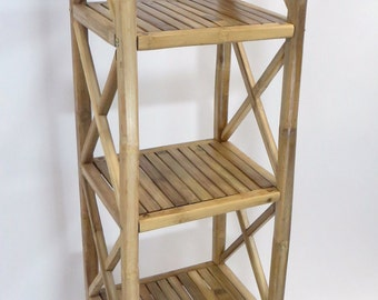 """Solid Bamboo Square Shelves, five tiers, 14.5""""w x 13""""d x 60""""h, BSS-60"""