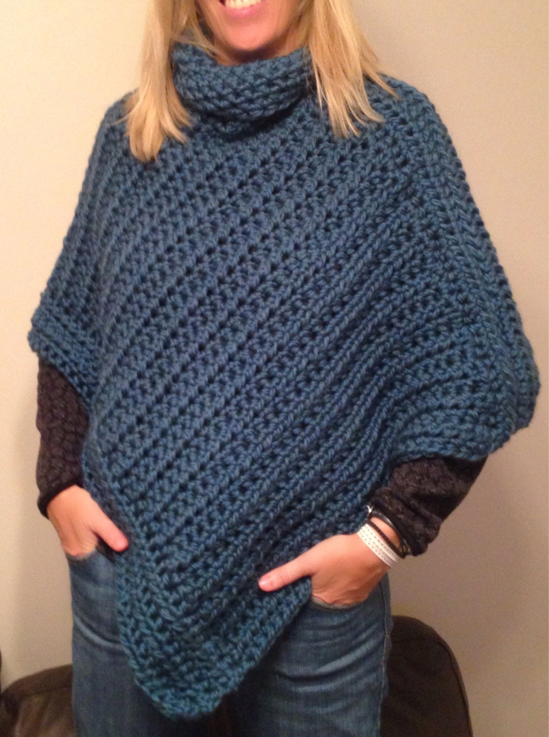 Free Crochet Patterns For Cowl Neck Poncho : Cowl Neck Poncho Crochet Pattern - Bing images