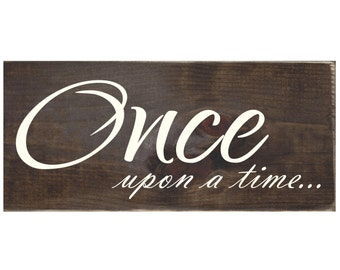Once Upon a Time Photo Wall Accent Wood Sign / Photo Collage  (#1514)