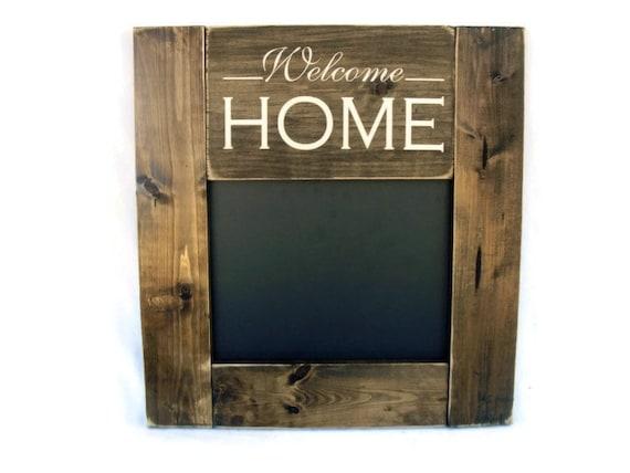 Chalkboard Rustic Wood Framed Gift Wall Decor Welcome Home