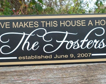 Custom family sign, Custom Family gift, Family name sign, wood sign, established date sign, Personalized family gift, Name sign