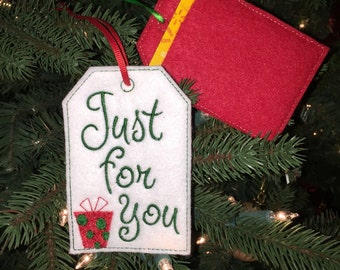Just for You Gift Card Holder, Gift Tag