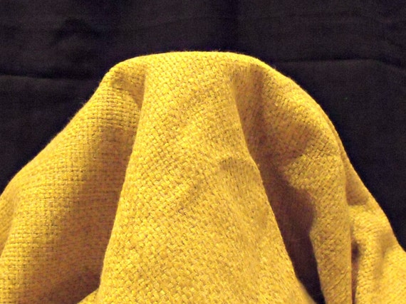 gold chenille upholstery fabric, large remnant luxurious craft fabric, just under 2 metres
