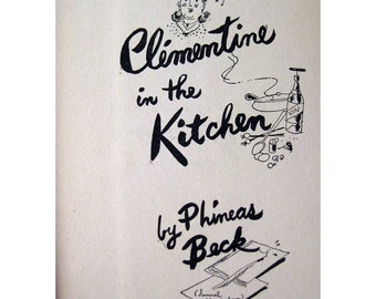 Clementine In The Kitchen French Cook Book / Recipe Book / Illustrated Cook Book / French Cooking