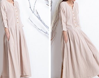 Women spring dress/ long dress/ casual dress (D1022)