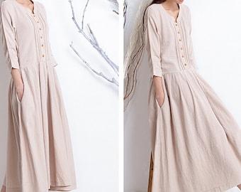 Women spring dress/ long dress/ casual dress (D1022)