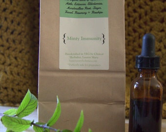 Minty Immunity Organic Herbal Tea