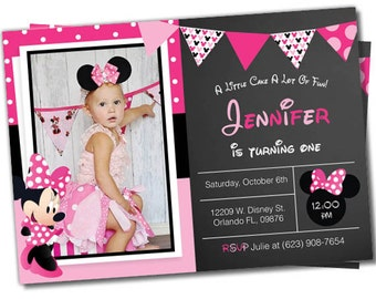 Minnie Mouse Party, Minnie Mouse birthday, minnie mouse invitation, Minnie Party, Minnie Mouse invite, Minnie Mouse Birthday Party (#9)
