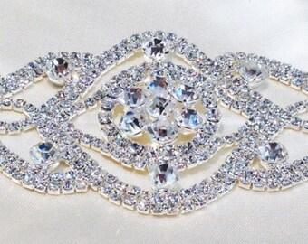 Bridal Sash Applique, Crystal Applique