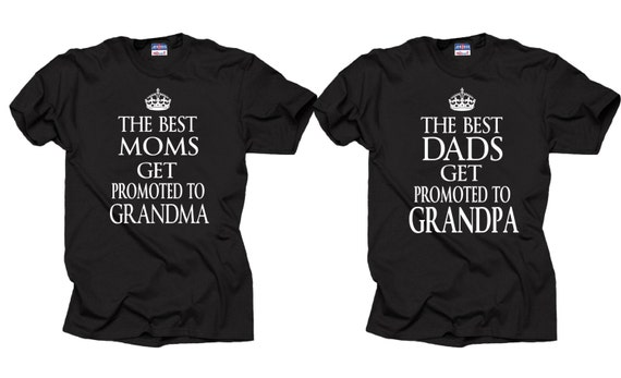 couple t shirt grandfather grandmother new grandpa new grandma. Black Bedroom Furniture Sets. Home Design Ideas