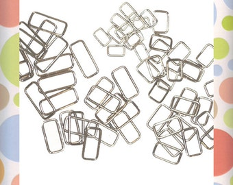 "60 Piece Rectangular Ring Assortment, Twelve Pieces Each of Five Sizes, 1-1/2"",  1-1/4"",  1"",  3/4"",  5/8"" Rectangle Ring!"