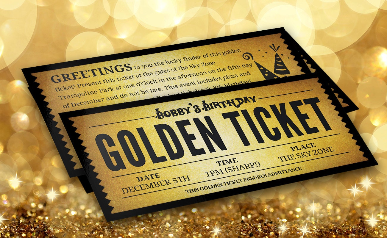 It's just an image of Intrepid Wonka Golden Ticket Printable