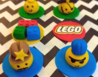 Lego Cupcake Toppers - 1 Dozen