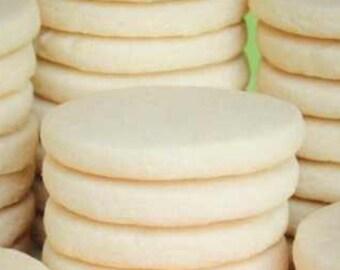 Round Undecorated Sugar Cookies - 1 dozen